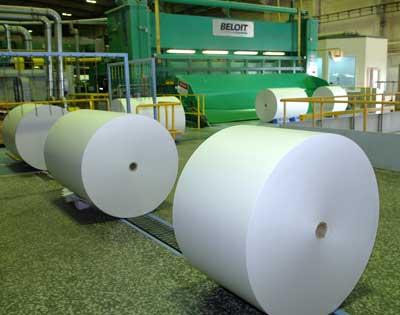в Финляндии сокращено производство газетной бумаги
